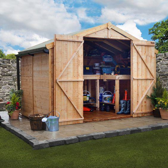 Garden Sheds 6 X 10 exellent garden sheds 6 x 10 wood storage full cord intended