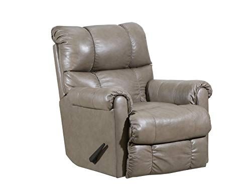 Lane Home Furnishings 4208 1901 Soft Touch Taupe Heat Massage Wallsaver Recliner Rocker Recliners Leather Recliner