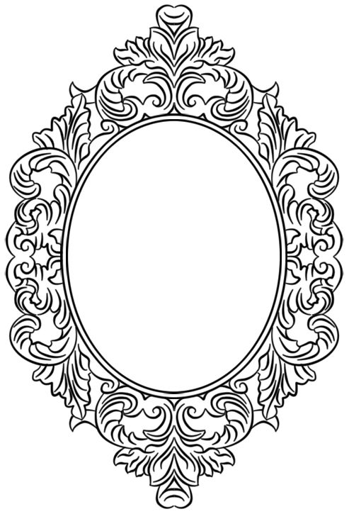 coloring pages mirror - photo#33