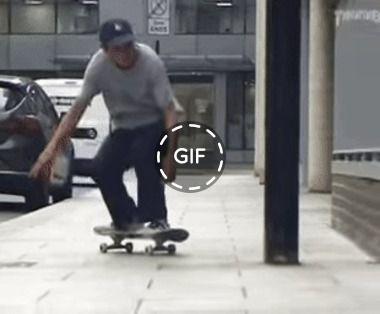 realizar um belo truque com skate