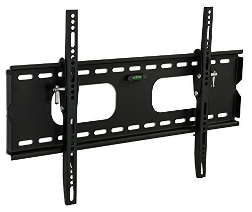nice Mount-It! MI-318B Low-Profile Tilting TV Wall Mount Bracket for 32 - 60 inch LCD, LED, OLED, 4K or Plasma Flat Screen TVs - 175 lbs Capacity, 1.5 Inch Profile, Max VESA 600x400 With 6 ft HDMI Cable