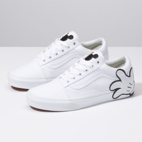 Vans X Disney Mickey Mouse Hand White Old Skool Shoes Sneakers Vn0a38g1unc1 Mickey Mouse Shoes Diy Shoes Shoes