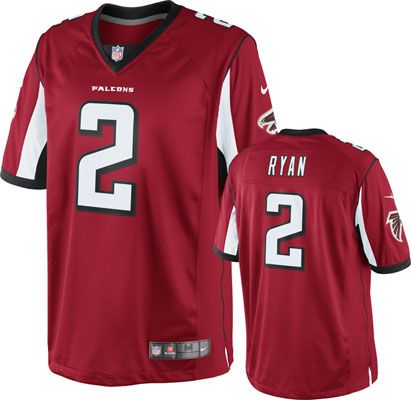 NFL Jerseys Official - Matt Ryan Jersey: Home Red Limited Nike Atlanta Falcons Jersey ...
