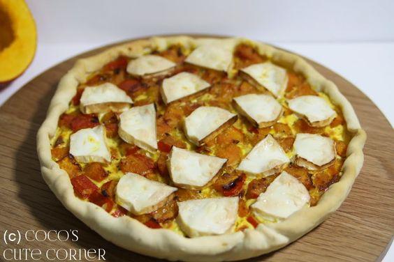 Kürbisquiche mit Ziegenkäse / Pumpkin Quiche