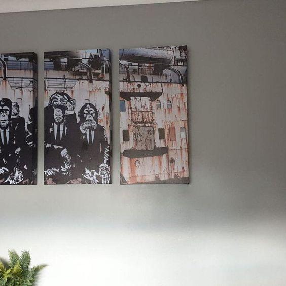3 Wise Monkeys Wall Art Canvas Speak No Evil Hear No Evil See Etsy In 2020 Monkey Wall Art Banksy Mural Canvas Wall Art
