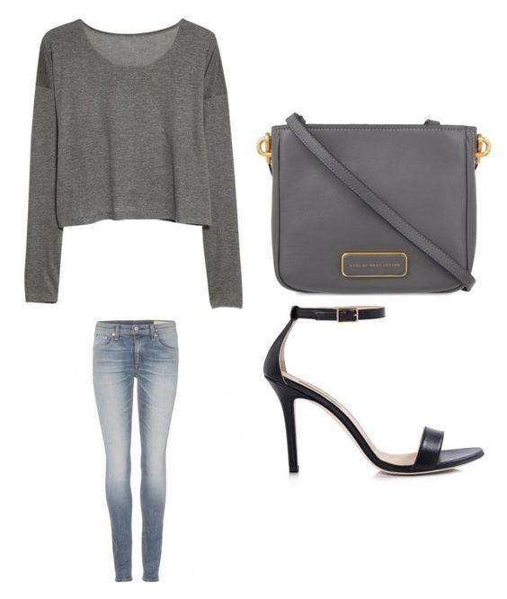 """""""Outfit Idea by Polyvore Remix"""" by polyvore-remix ❤ liked on Polyvore featuring Marc by Marc Jacobs, Dee Keller, MANGO and rag & bone"""