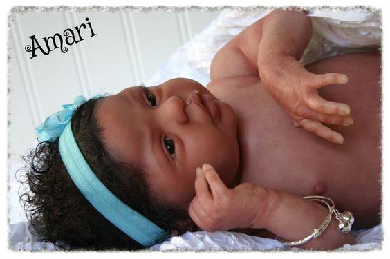 Reborn Dolls by Design~Biracial Reborn baby Girl~Amari~Esme by Laura Lee Eagles #LauraLeeEagles