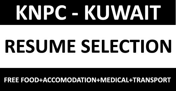 Opportunities in KNPC, Kuwait APPLY FOR BEST JOBS Pinterest - hydro test engineer sample resume