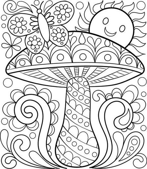 Free Printable Easy Adult Coloring Pages Mandala Coloring Pages