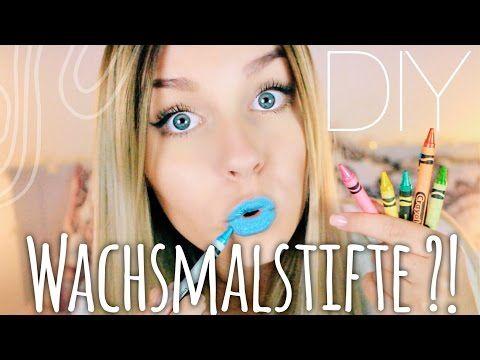 ... WACHSMALSTIFTE als Lippenstift ?? - DIY ♡ | Dagi Bee - YouTube