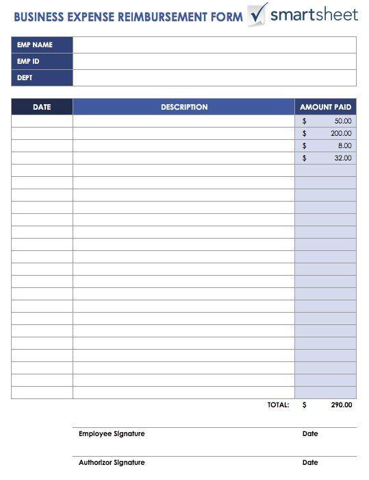 Expense Reimbursement Form Templates 17 Free Xlsx Docs Pdf Samples Spreadsheet Template Report Template Templates