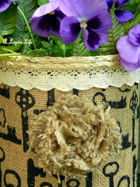 How to - Coffee Can Centerpiece Burlap