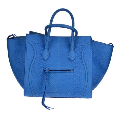 white celine bag - Celine Phantom Blue Python Authentic Pre-owned Good Condition ...