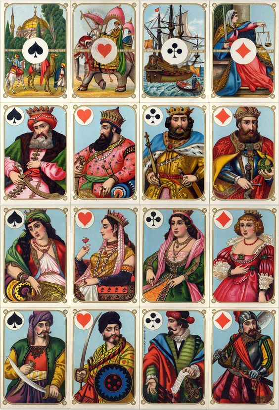 Vier-Erdteile c.1870 - The World of Playing Cards: