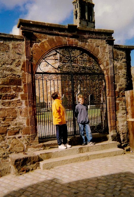 Gates to Turriff Kirkyard, Aberdeenshire in 2003