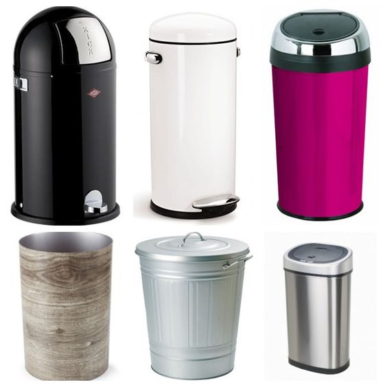 Classy Trash Cans: A Case of the Wants (http://blog.hgtv.com/design/2014/03/13/classy-trash-cans/?soc=pinterest)