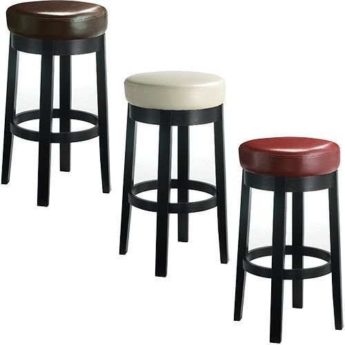 Bar Stool Cover Heavy Duty Staple On Round Vinyl Replacement Top Waterproof Bar Stools Swivel Counter Stools Stool