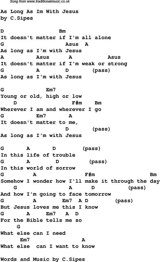 Contemporary Christian music, worship lyrics u0026 chords for: As Long ... : Then Sings My Soul ...