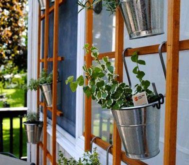 15 id es pour am nager un petit balcon avec jardin - Pot deco interieur ...