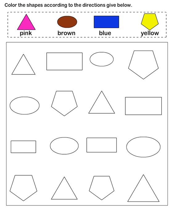 math worksheet : shapes  math worksheets  preschool worksheets  educational  : Shapes Math Worksheets