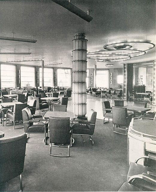 SS Normandie French Line | Cafe & Grille, SS Normandie, French Line (CGT) ... | Transatlantic Vo ...