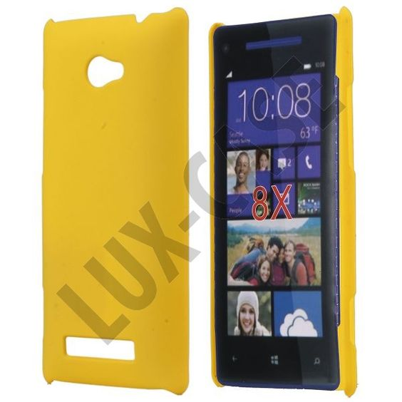 Hard Shell HTC 8X Deksel (Gul)
