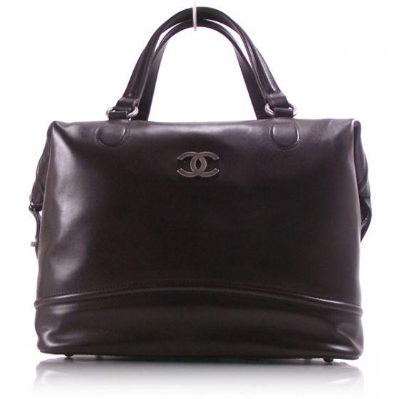 "CHANEL Calfskin Leather Doctor Bag Brown. Length: 12"" Height: 10"" Depth: 9"" Drop: 6"""