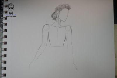 تعليم الرسم بالرصاص طريقة تصميم فستان مع الخطوات Female Sketch Blog Posts Blog
