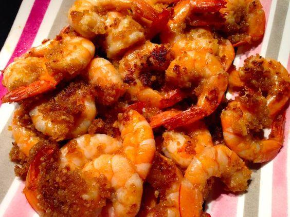 Des crevettes marinées et panées à la sauce worcestershire