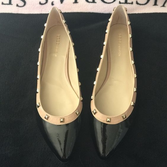 BCBGeneration black and beige flats Brand new never were just to try them BCBGeneration Shoes Flats & Loafers