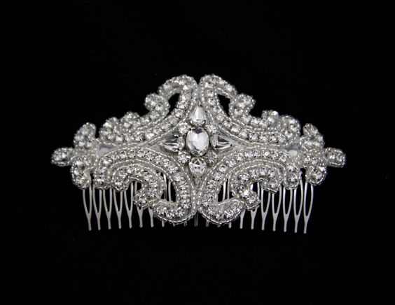 Bridal+Hair+comb+++Wedding+Hair+Accessories+by+GlamHouse+on+Etsy,+$80.00