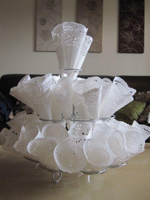 Doily confetti cones