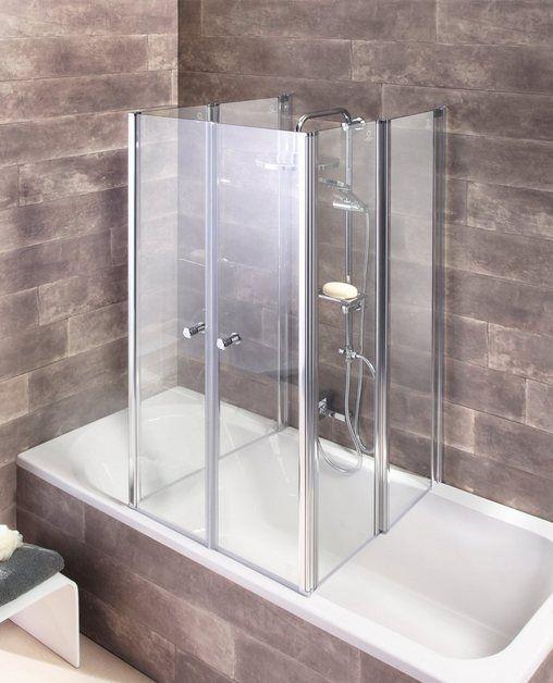 Badewannenaufsatz 6 Teilig Faltwand Badezimmer Einrichtung Wanne