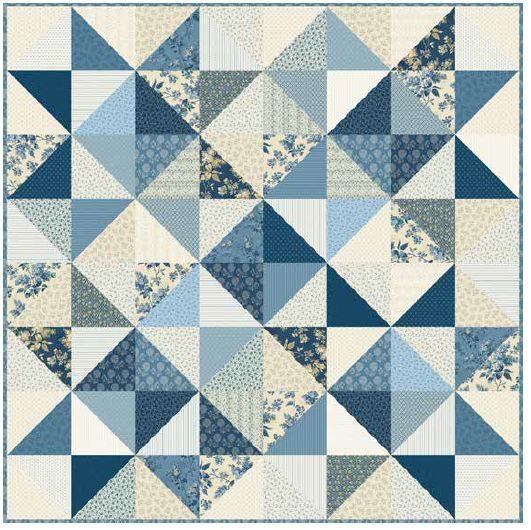 Free Pattern Blue Sky Stargazer Quilt By Andover And Laundry Basket Quilts Quilt Patterns Free Laundry Basket Quilts Sky Quilt