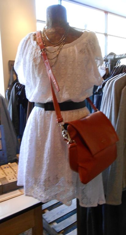 We love this White Lace look from Dylan coupled with a bag from Matt & Nat, HT Belt and necklace from Global Girlfriend.