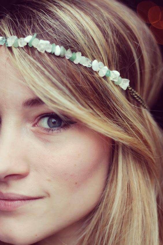 headband - pierres semi-précieuses