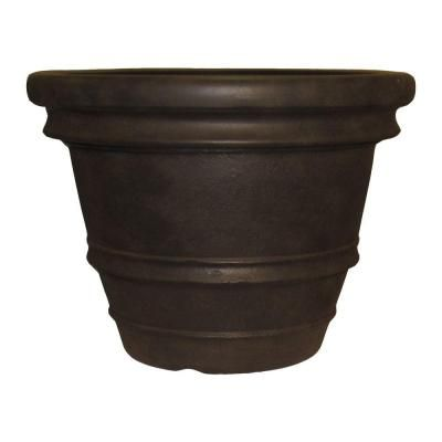 Tuscany 22 In Round Java Resin Planter Gardens Home