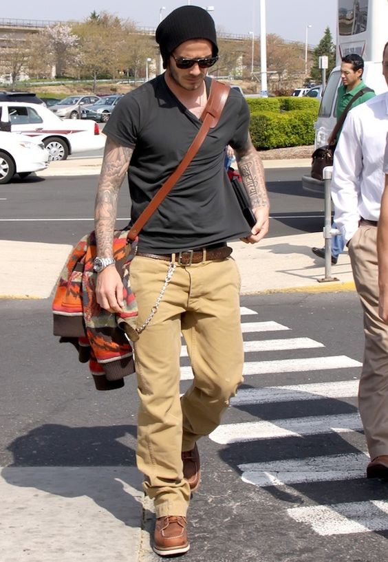 Beckham in red wing boot, i like the look. | Style | Pinterest ...