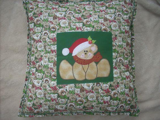 Capa de almofada, com ursinhos, para o Natl