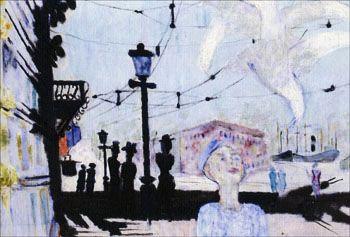 Husskuggor av Ragnar Sandberg målning från 1941-42