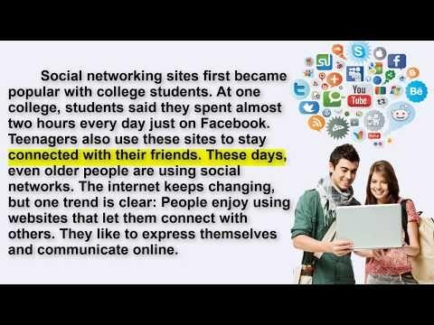 القراءة باللغة الانجليزية وتحسين مهارة النطق الجزء 6 والاخير Social Networks 6 Youtube Social Networking Sites Social Networks First Site