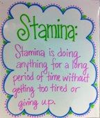 Stamina: Operational Definition Chart
