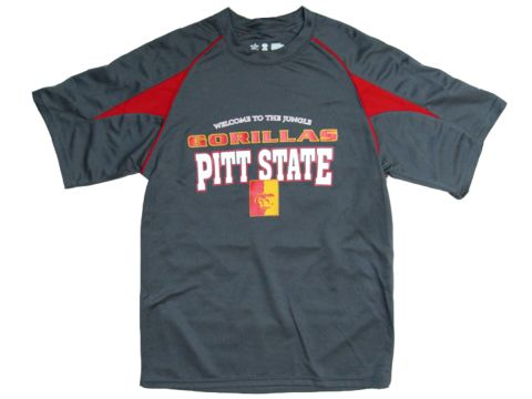Pitt State Gorillas Welcome Performance Tee - Charcoal/Red