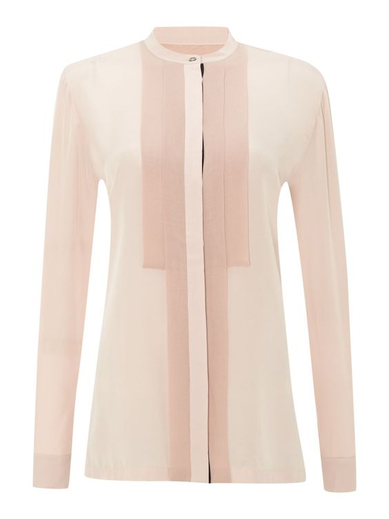Paul Smith Black Label Pink Long Sleeved Silk Shirt