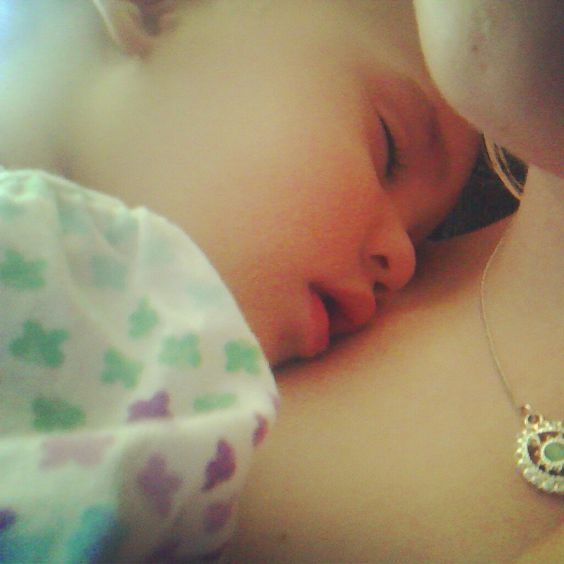 There's nothing quite like a sweet little baby girl falling asleep on you