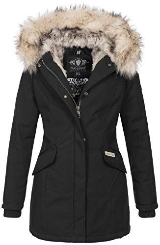 Navahoo Damen Winter Jacke Parka Mantel Winterjacke warm
