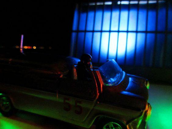Dinky Toys Ford Transit Van No.287 Police Accident Unit Van Conversion: Diorama Bonneville Salt Flats - 73 Of 128   by Kelvin64