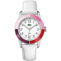 2000458 - Lacoste Ladies Watch, White Leather Now £60.00 RRP £110.00, www.shushstore.com