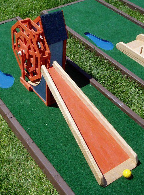 Mini Golf Obstacles Miniaturegolf Backyard Diyproject Diy Mini Golf Course Mini Golf Golf