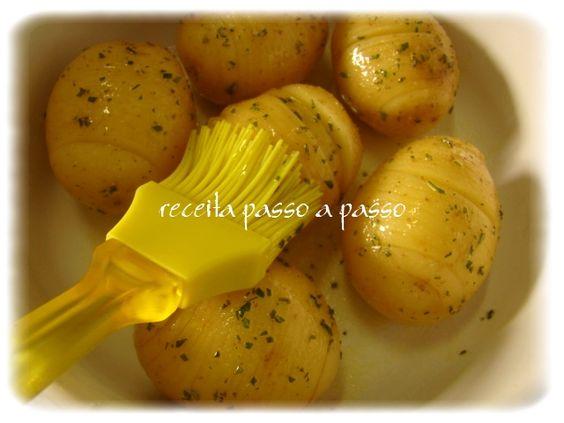 Receita passo a passo: Batatas Suecas / Hasselback Potatoes / Hasselbackspotatis